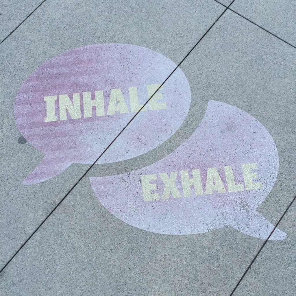 inhale-exhale speech bubbles